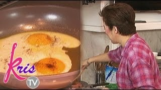Kris Aquino cooks sunny side up