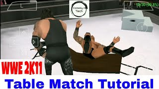 Wwe 2k11 how to win table match on Android||Smack vs Raw(svr)
