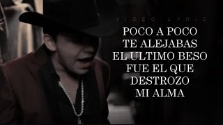 (LETRA) ¨TE FALLE¨ - Christian Nodal (Versión Acústica) (Lyric Video)