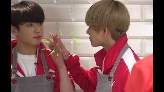 Jk eating the food that fell from Tae's lips naturally (vkook/ taekook analysis) width=