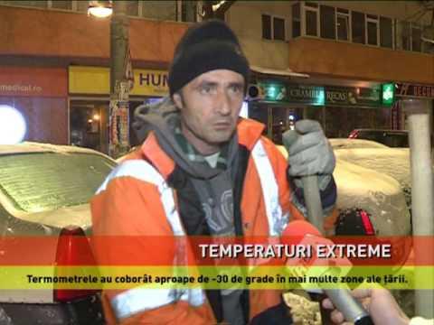 Temperaturi extreme în toată țara