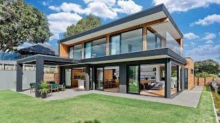 Diseño de modernas casas de dos pisos