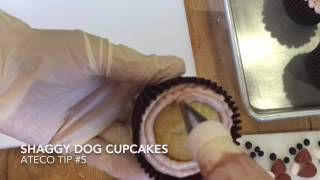 Shaggy Dog Buttercream Cupcakes