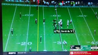 UCF McKenzie Milton quarterback HORRIBLE LEG INJURY Vs S. Florida. *Graphic*