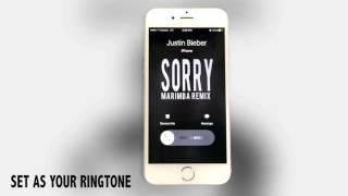 Justin Bieber Sorry Marimba Remix Ringtone
