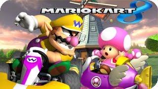 Toadette vs. Wario in Moo Moo Meadows (Wii) - Mario Kart 8