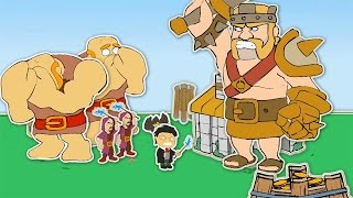 "Clash Of Clans-""NEW""FUNNY VILLAGE ANIMATION! (Barbarian King VS Harry Potter)!"