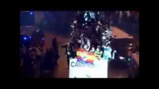 Celebracion del Real Madrid CHAMPIONS con NUEVO HIMNO