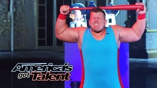 JD Anderson: Strongman Breaks Cinder Blocks With His Head - America's Got Talent 2014