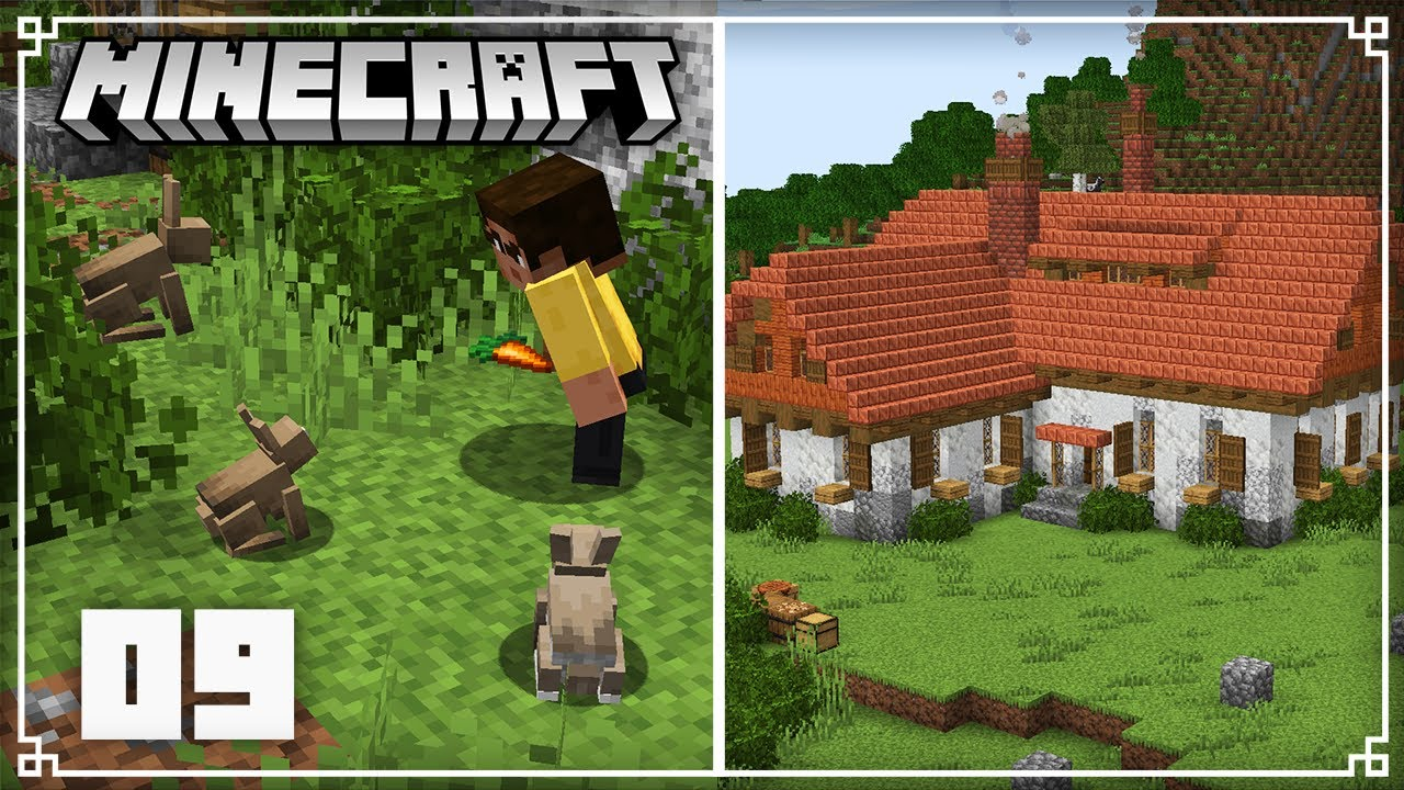JermsyBoy - Building a Rabbit farm! | Minecraft 1.17 Survival Lets Play