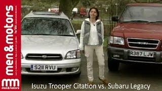 Isuzu Trooper vs Subaru Legacy - Battle Of The Off-Roaders width=