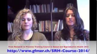 GFMER Training Course in Sexual and Reproductive Health Research 2014
