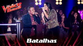 Edson Carlos e Larice Barreto cantam 'Apelido Carinhoso' nas Batalhas - The Voice Brasil | 7ª
