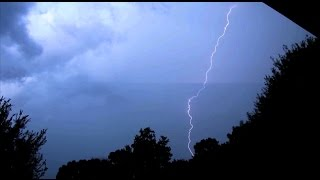 Intense Florida Lighting Storm and Loud Thunder