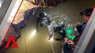 Thailand cave rescue: New Footage released - BBC News width=