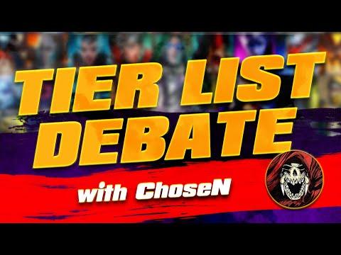 Tier List Debate With ChoseN! I Raid Shadow Legends