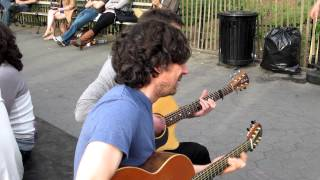 Snow Patrol performing New York in Washington Square Park