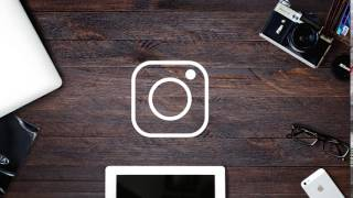 Free Adobe After Effects Template  Icon Social Media #41 Simple Instagram Logo Reveal