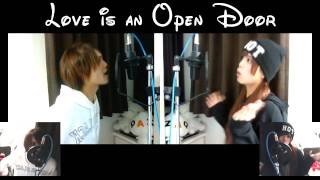 """【I'm a Boy・Double Role】Disney's FROZEN """"Love is an Open Door"""" by Rio ディズニー アナ雪の 「とびら開けて」 一人二役で歌ってみた"""