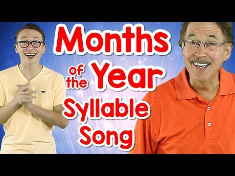 Months of the Year Syllable Song | Counting Syllables | Phonological Awareness | Jack Hartmann - YouTube