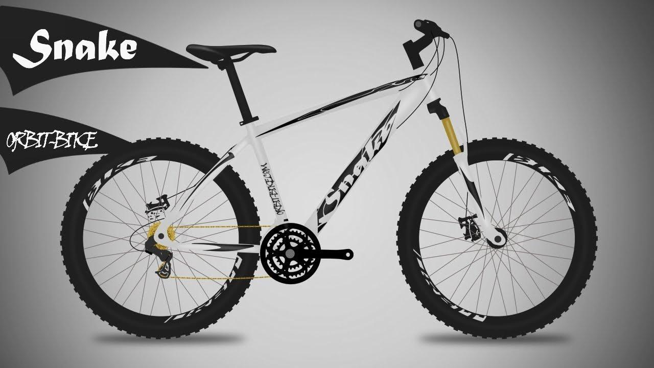 White Snake Bicycle Design