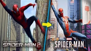 Recreating scenes in Spider-Man PS4 from The Amazing Spider-Man 2