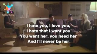 I HATE YOU I LOVE YOU - GNASH ft.Olivia O'brien Lyrics (Sam Tsui, Madilyn Bailey, KRNFX & KHS COVER)