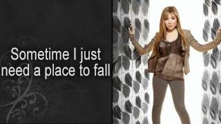 """Jennette McCurdy - """"Place to Fall"""" - Official Lyrics Video"""