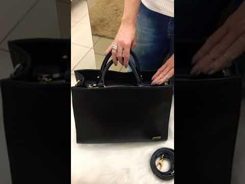 BOLSA LONDON Bolsa pasta couro legítimo troca de alças de mão/ombro/transversal preta