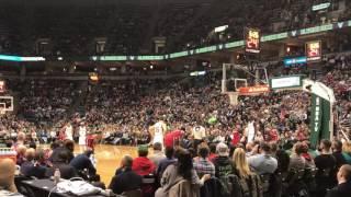 "Giannis Antetokounmpo ""MVP"" chants live at Bucks game vs Wizards 12/23/16"