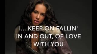Fallin' - Alicia Keys - Karaoke male version lower (-4)