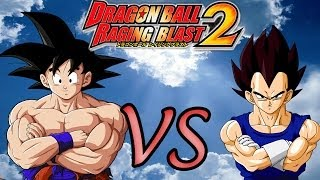 Dragon Ball Z Raging Blast 2 | Goku VS Vegeta - Gameplay lets play xbox 360 !