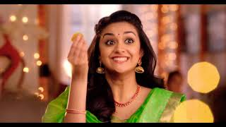 The Chennai Silks Happy Diwali Mersal Ad 2017   Mersal Diwali 2017    keerthi suresh   Kavitha Gopi width=