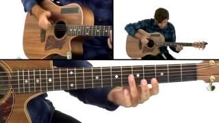 Percussive Fingerstyle - #23 Chase the Sky - Guitar Lesson - Daniel Champagne