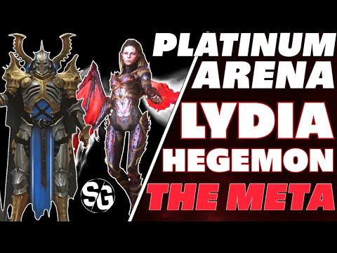 OP Lydia platinum arena w/ Hegemon! kek Raid Shadow Legends Lydia Arena guide Lydia OP arena
