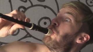 "PewDiePie Plays ""All Star - Smash Mouth"" On Recorder"