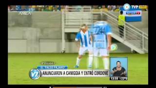 Visión 7 - Anunciaron a Caniggia, pero entró Cordone
