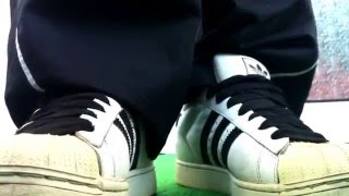 ADIDAS SUPERSTARS with fat laces in HD 16:9