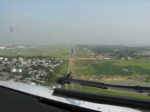 Flyglobespan operating for GMG Airlines. B737-800 Landing at Dhaka, Bangladesh.