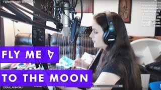 Fly Me To The Moon ~ Live Electric Harp Cover
