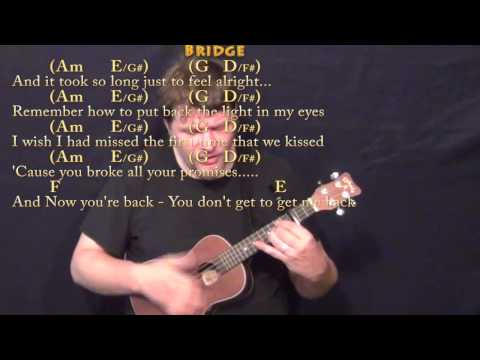 Jar of Hearts (Christina Perri) Ukulele Cover Lesson with Chords ...