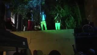 Guyanese artistes terror x warchild -freestyling with Jamaicans in Newark jersey