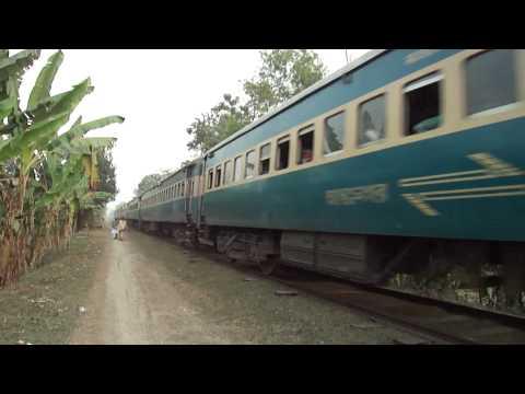 Bangladesh Railway 755 up Modhumoti ICE in speedy condition.MP4