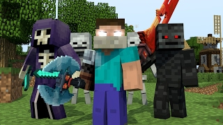 """♪ """"RAIDERS"""" - MINECRAFT PARODY OF CLOSER BY THE CHAINSMOKERS"""" ♫ (ANIMATED MUSIC VIDEO) ♫"""