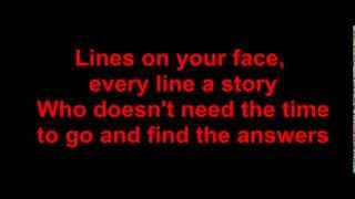 Lyrics - Ten Sharp - lines on your face