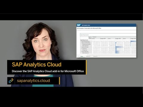 Integrace SAP Analytics Cloud a MS Excel