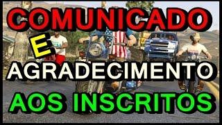 √ COMUNICADO E AGRADECIMENTO AOS INSCRITOS √ (LIVES TODOS OS SABADOS) × bOneqoGameR ×