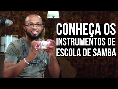 APRENDA 7 INSTRUMENTOS DE ESCOLA DE SAMBA