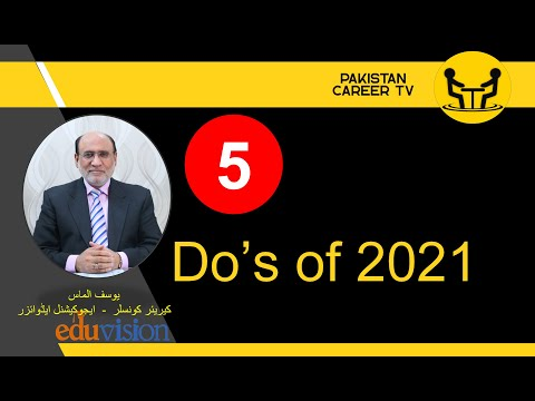 5 Things to do for 2021 | Yousuf Almas | Career Counselor