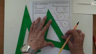 Imagen en miniatura para Circunferencias tangentes a dos rectas que se cortan en un ángulo cualquiera